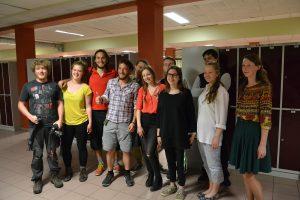 Rowerzyści z Francji w Polskiej Szkole w Rydze