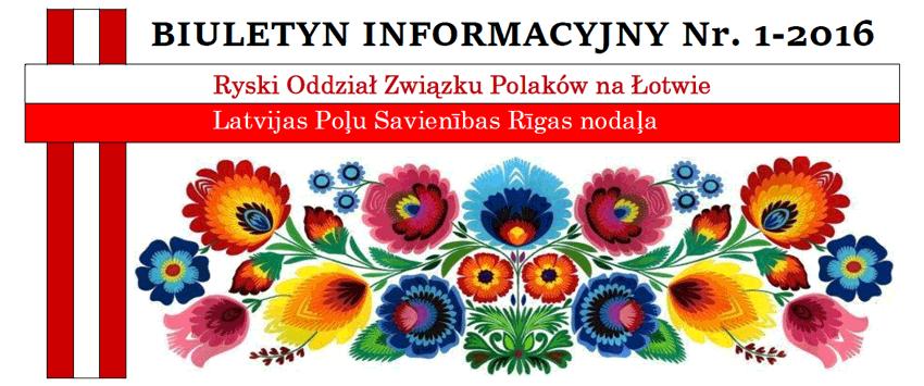Biuletyn Informacyjny nr 1/2016