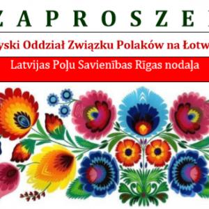 Zaproszenie na akademię upamiętniającą odzyskanie przez Polskę i Łotwę niepodległości
