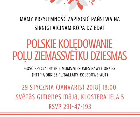 Wspólne polskie kolędowanie i koncert kolęd i pastorałek Pawła Orkisza
