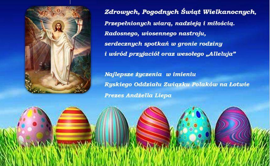 Życzenia świąteczne na Wielkanoc