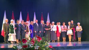 Spotkanie Pary Prezydenckiej z Polakami mieszkającymi na Łotwie