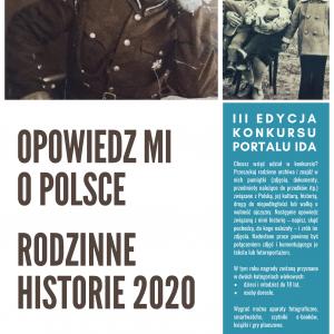 """Zaproszenie do udziału w konkursie  """"Opowiedz mi o Polsce – Historie rodzinne"""""""